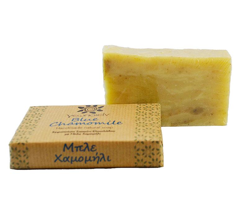Σαπούνι Ελαιολάδου με Μπλέ Χαμομήλι