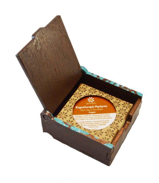 Ξύλινο κουτί για κηραλοιφές 30gr